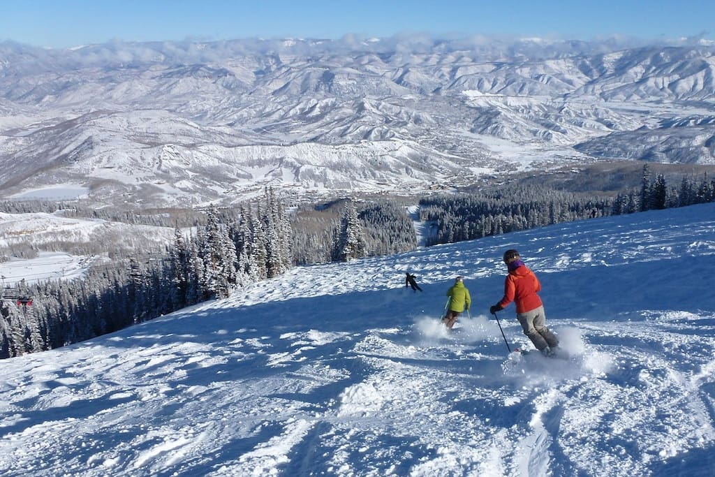 Skiing Snowmass Mountain is just steps away from our slope side condo. The mountain has trails for beginners to experts.