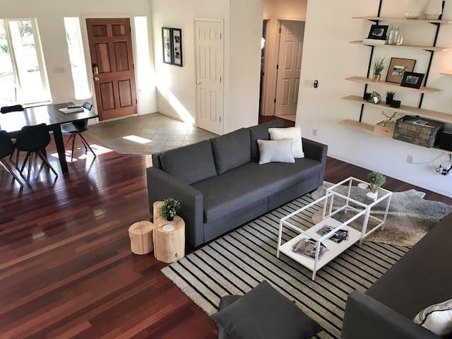 Quiet, retreat style home on 5 acres