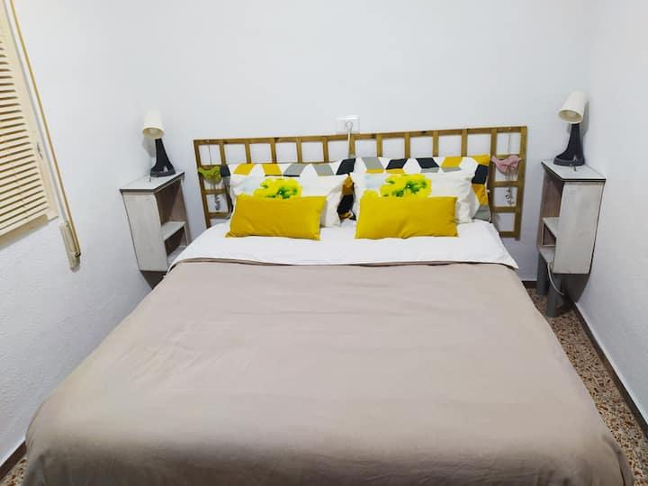 🏖Tranquila y cómoda habitación interior ¡privada!