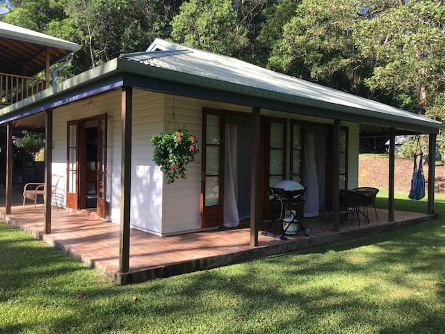 Your little bungalow is situated next to the main house but very private with multiple access points.