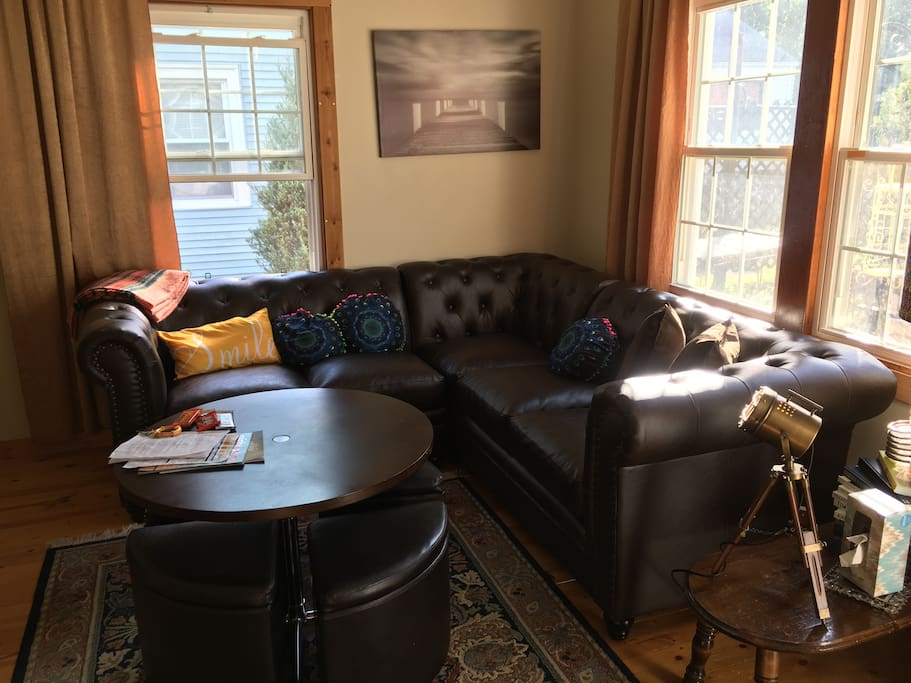 New living room sectional and dining/ coffee table hybrid
