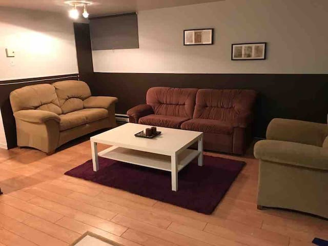 Comfy, spacious and clean basement apartment