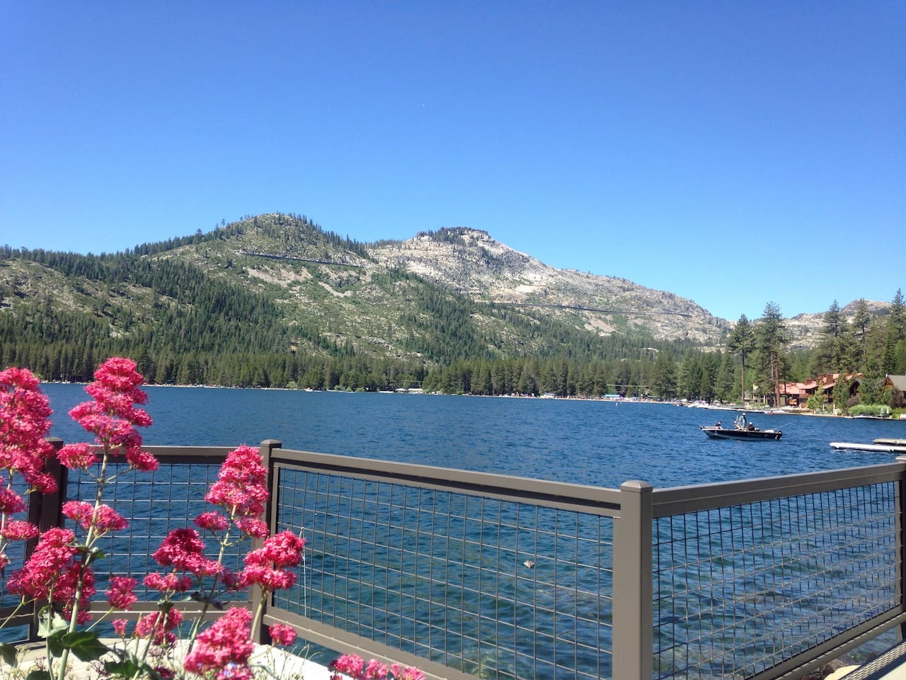 This is a picture from Donner Lake boat launch! Just 7 minutes (3.5 miles) away from the suite!
