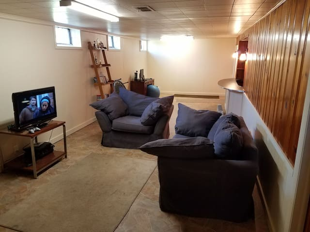 Finished basement with Double Bed - Indianapolis - Huis