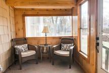 Cozy sunporch off TV room area