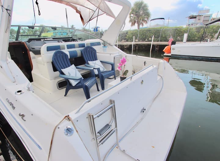 BEAUTIFUL SEARAY 33' WITH KAYAKS FREE!!!