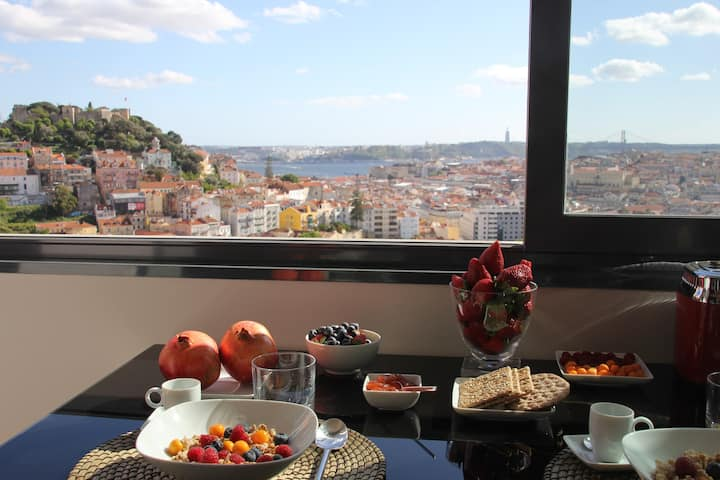 NEW! Panoramic view over Lisbon!