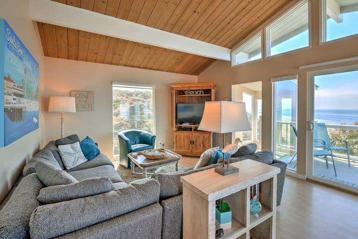 NEW! La Selva Beach Home w/Gas Grill & Ocean Views