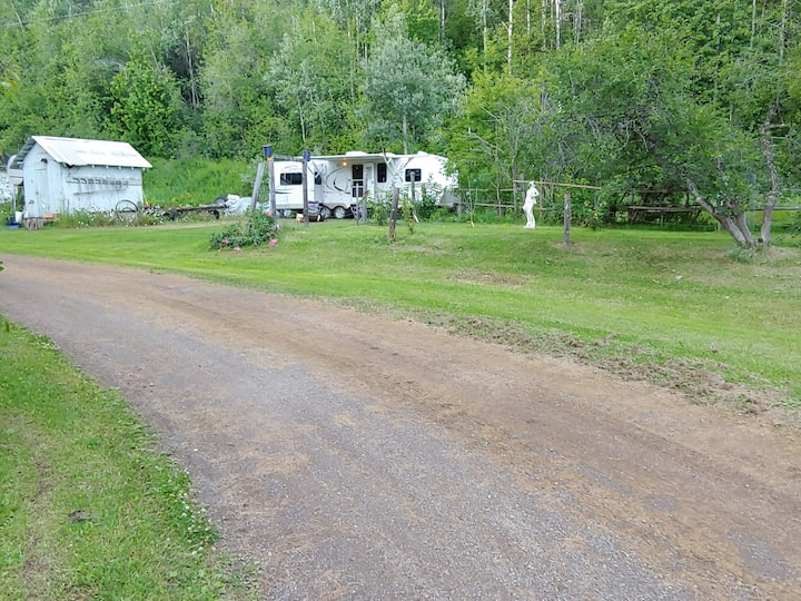 Luxurious living in a 30 ft trailer on 5 acres!