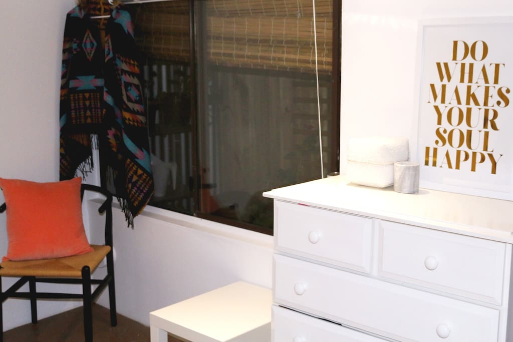 Hanging space and drawers