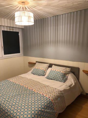 Chambre principale avec lit 160X200 très confortable