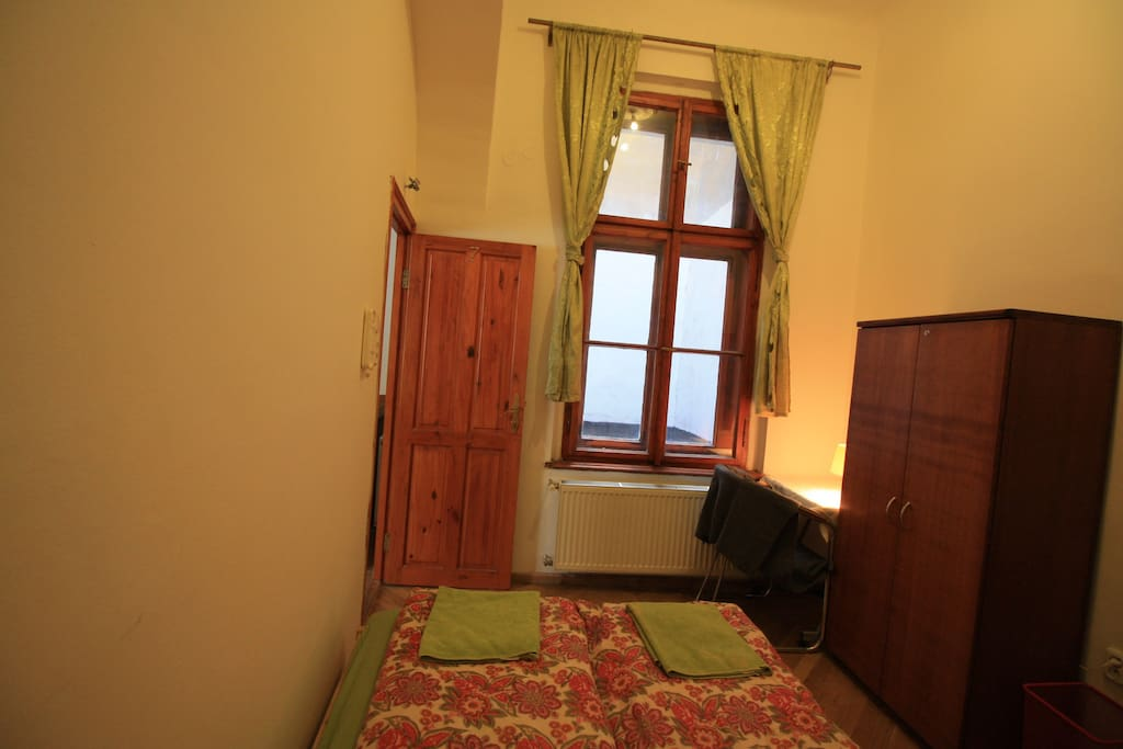 bedroom C , 2 beds ,writing desk, wardrobe, shower unit , ideal for couples