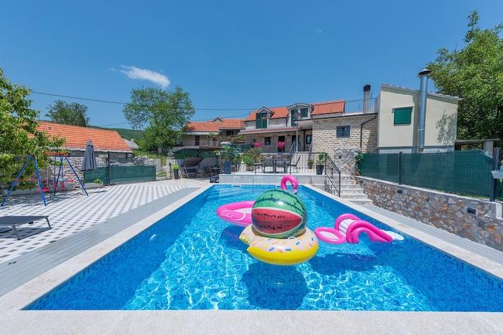 "Holiday home ""Stipanovi Dvori"" w/ heated pool"