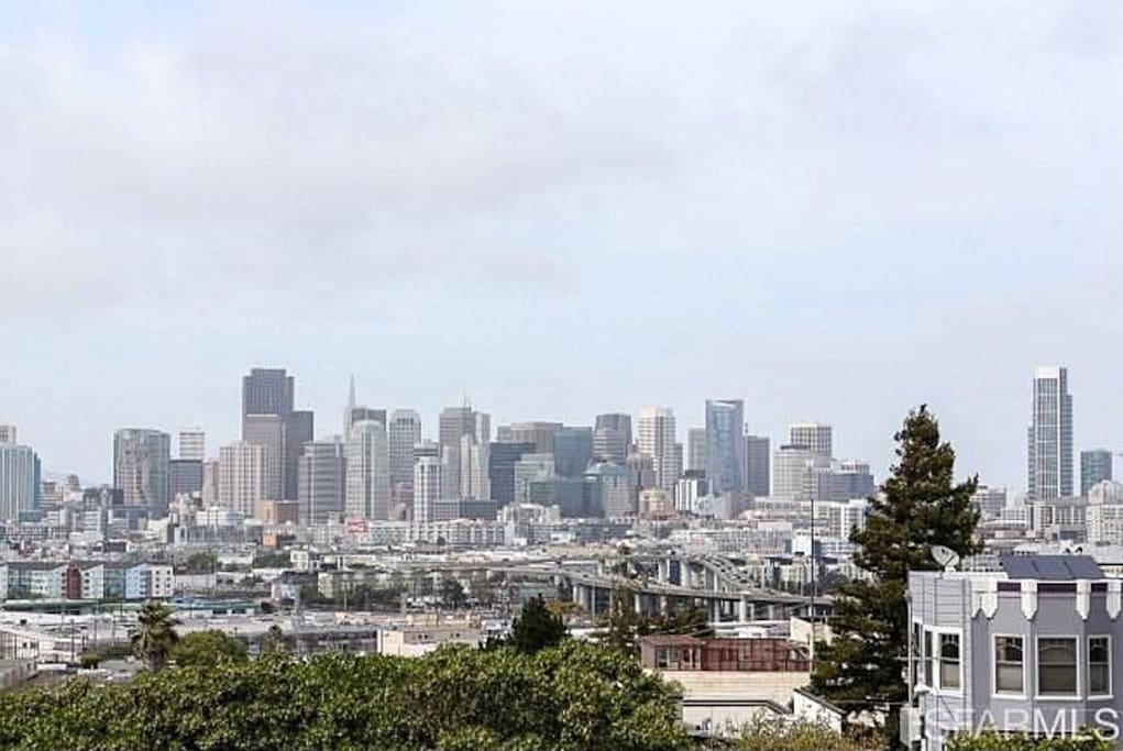 Stunning view of downtown San Francisco