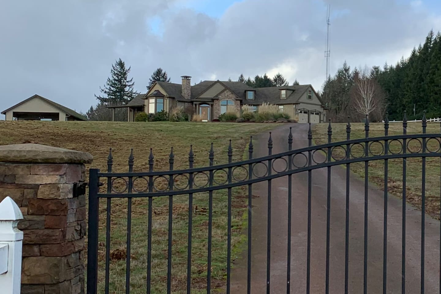 Home with gated entrance