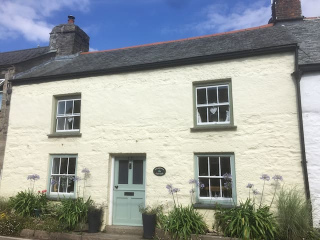 Traditional Cornish Cottage In village setting.