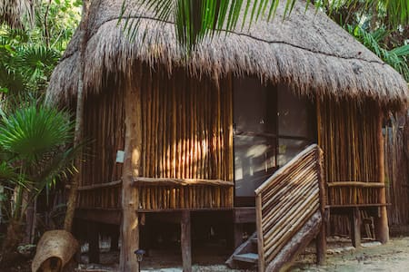 "Jungle Eco Cabaña on the beach Road ""B"" Location! - Tulum"