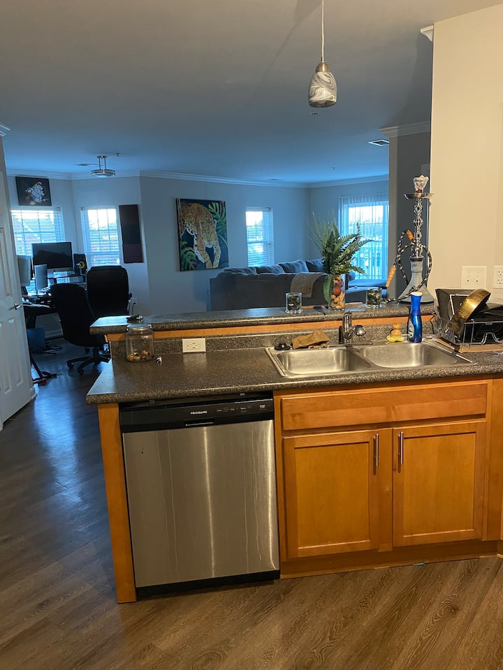 What's Downtown peaceful 2 bedroom/ 2 bath