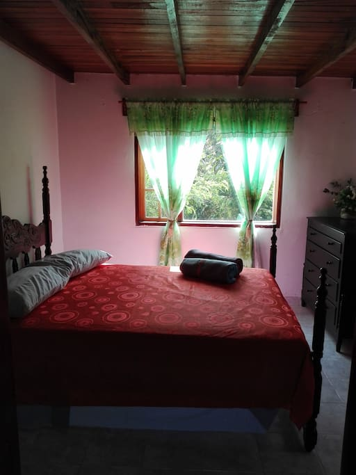 Habitación cama doble y sofá cama individual.