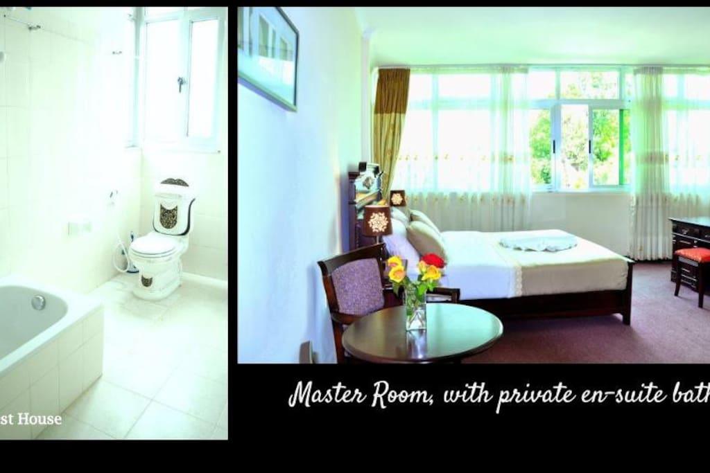 One master bedroom on your floor with en-suite bath