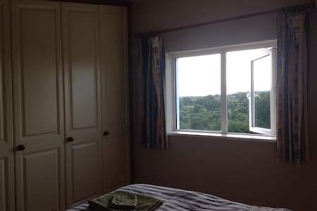 Large third floor attic room with two single beds