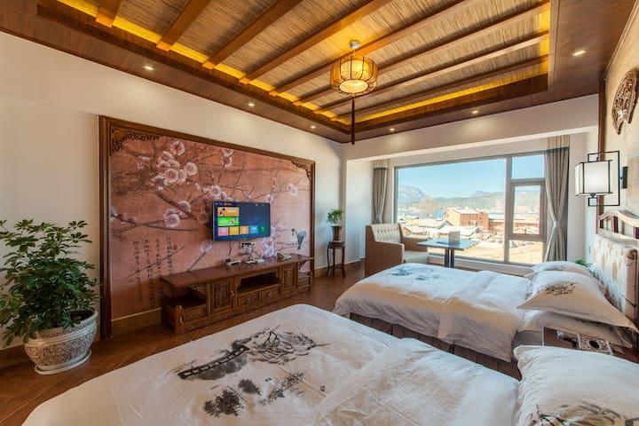 温馨中式阳光星空湖景标间 - Lijiang - Serviced apartment