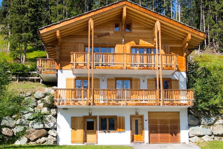 Comfortabel chalet bij skigebied Les 4 Vallées met sauna