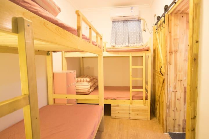1个床位·西湖苏堤边背包沙发客4人床位房女生