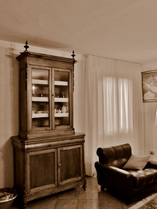 Restored old wooden cabinet