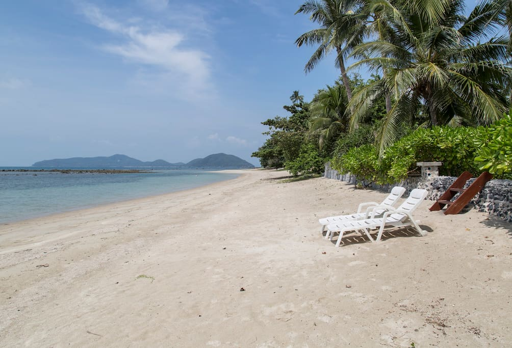 Secluded beautiful beach within seconds of your villa door!