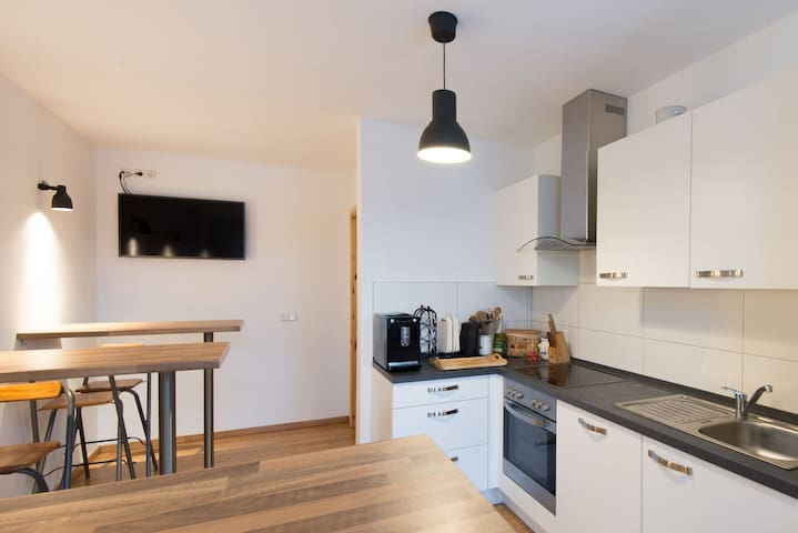 Central Apartment near the Red Bull Arena with Wi-Fi & TV