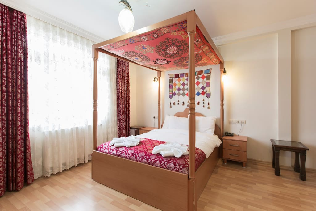 Clean, comfortable room. Air-conditioned & Furnished with comfortable beds.