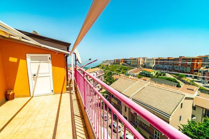 Grande appartamento con terrazza panoramica