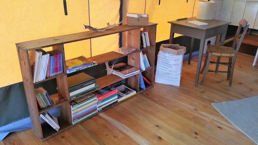 la petite bibliothèque et le bureau
