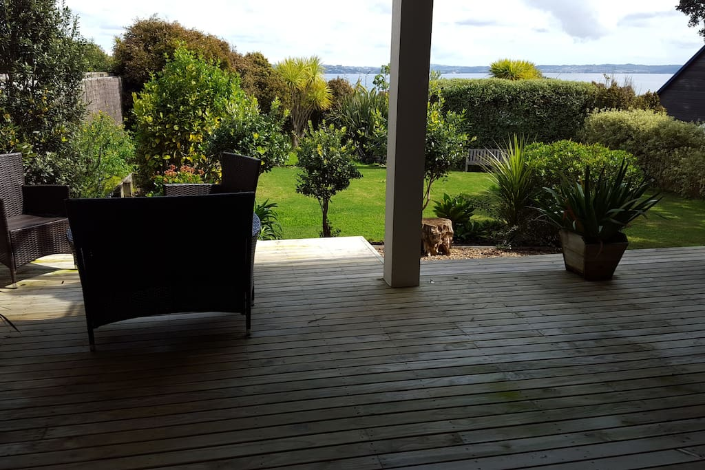 Deck leading out from downstairs Bedroom