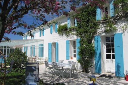 Grande charentaise familiale entre mer et marais - Mornac-sur-Seudre - Huis