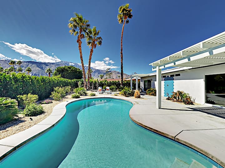 Contemporary Haven with Saltwater Pool & Fire Pit