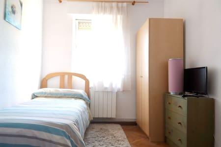 Habitación individual en piso exterior - Madrid - Rumah