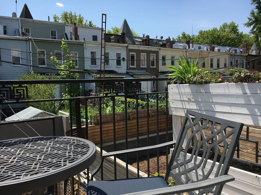balcony right - always birds chirping, and generally quiet backyards