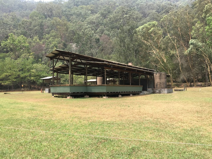 Private Camping site for groups at Camp Bunya