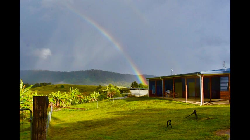 Rainbow over Hilltop Retreat