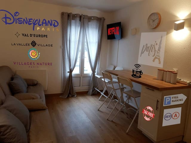 Pretty little flat near from DisneyLand Paris