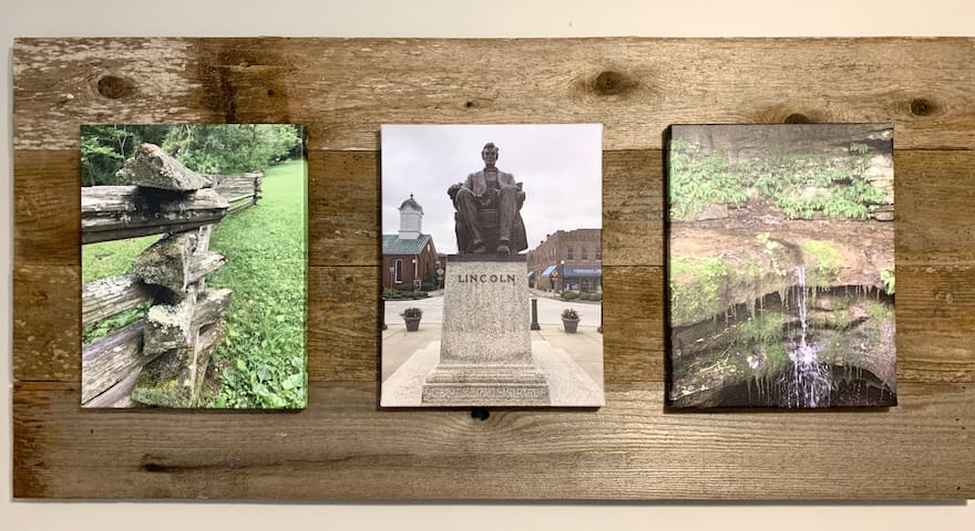 Custom Lincoln Canvas Prints-- just a 20 minute drive from the bungalow and you can see these in person