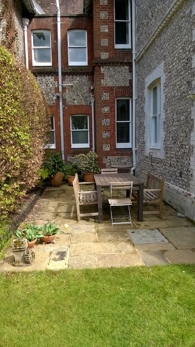 Pleasant spot for eating outdoors