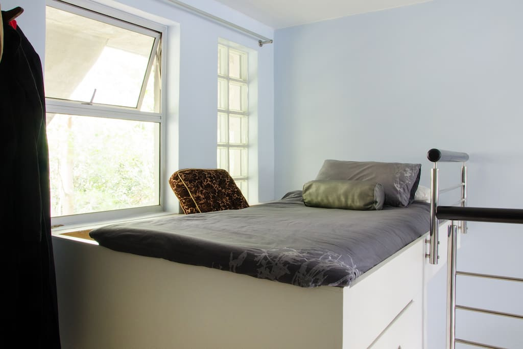Spare single bed