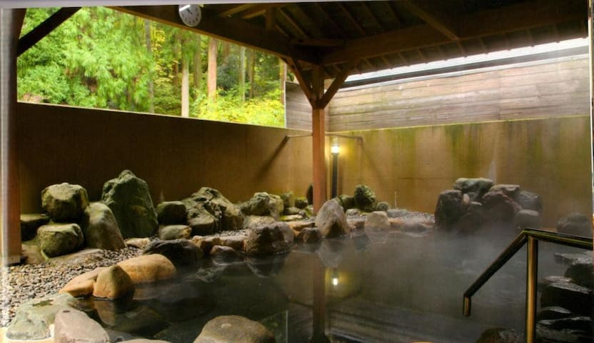 Hot spring of Nagahama, Shiga. With a private semi open-air bath. Dinner to choose and Japanese breakfast
