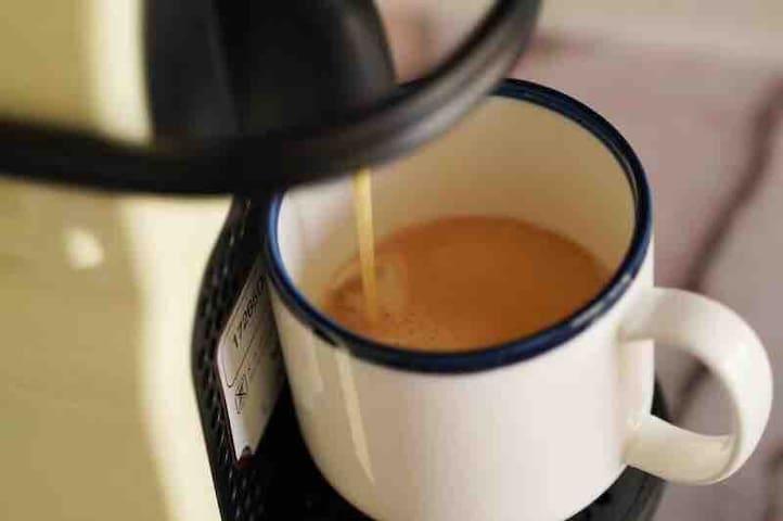 房源区域 - 房间配有胶囊咖啡机。