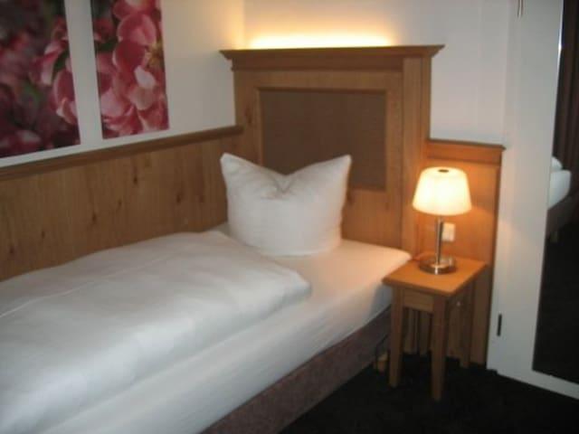 Himmel-Landshut GmbH Hotel-Restaurant-Cafe (Landshut), Einzelzimmer mit Flachbild-TV und kostenfreies WLAN