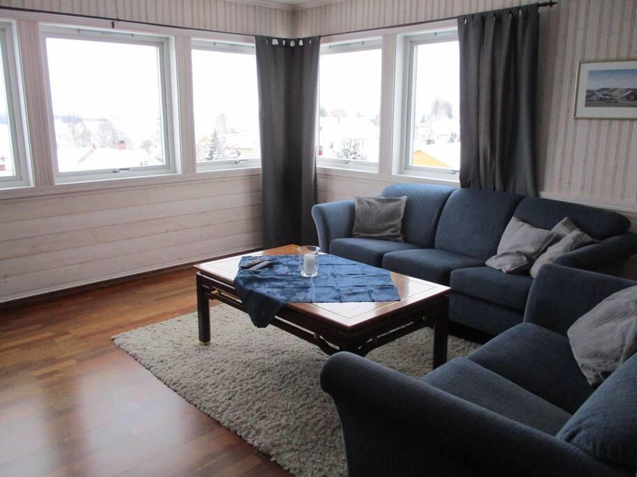 Stue med flott utsikt
