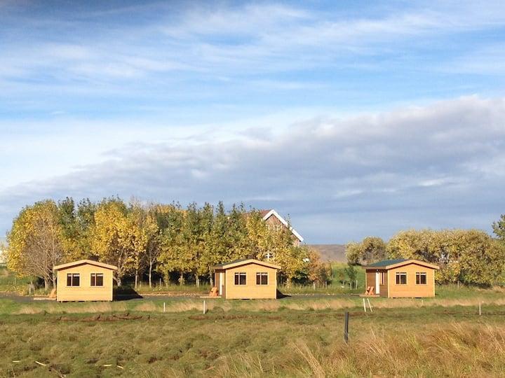 Cabin #2 on Lundar Horse Breeding Farm Borgarnes